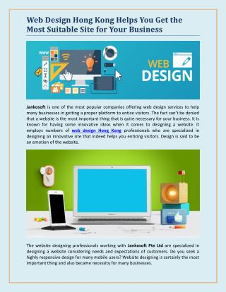 Web Design Hong Kong Helps You Get the Most Suitable Site for Your Business