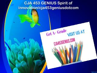 CJA 453 GENIUS Spirit of innovation/cja453geniusdotcom