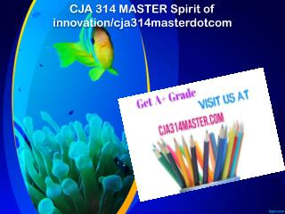 CJA 314 MASTER Spirit of innovation/cja314masterdotcom