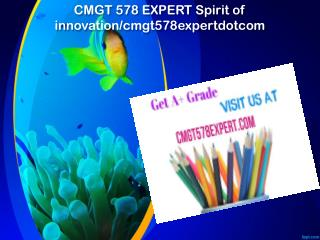 CMGT 578 EXPERT Spirit of innovation/cmgt578expertdotcom