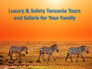 Luxury & Safety Tanzania Tours and Safaris for Your Family