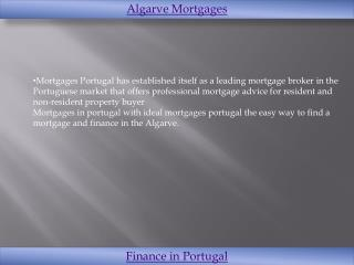 Ideal mortgages in Portugal