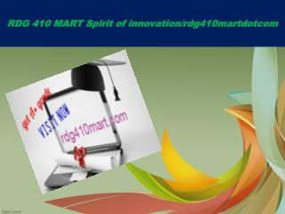 RDG 410 MART Spirit of innovation/rdg410martdotcom