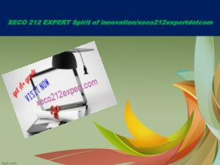 XECO 212 EXPERT Spirit of innovation/xeco212expertdotcom