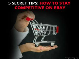 5 Secret Tips How To Stay Competitive On EBay