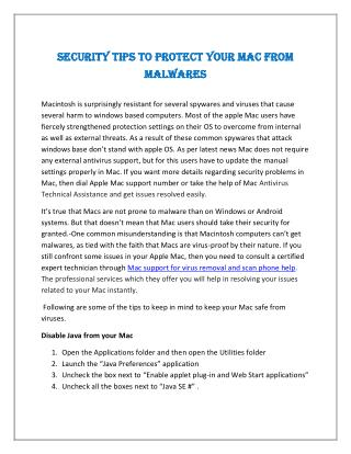 Security Tips to Protect Your Mac from Malwares