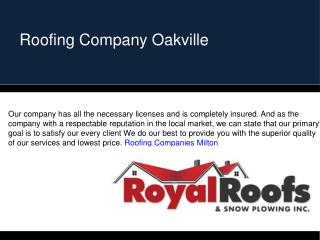 Roofing Contractors Mississauga