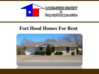 Fort Hood Homes For Rent