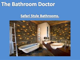Safari Style Bathroom by bathroom doctors