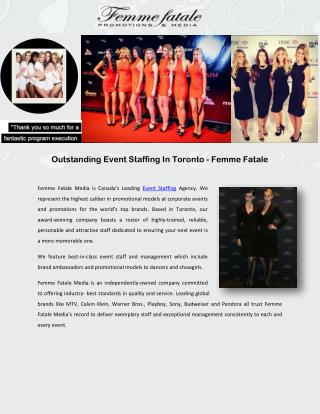 Outstanding Event Staffing In Toronto - Femme Fatale