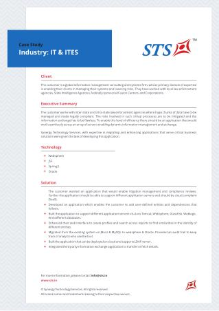 Case Study - Information Exchange Tool For Consulting And Systems Firm