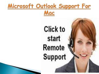 Microsoft Outlook Support For Apple Mac- 800-786-0581
