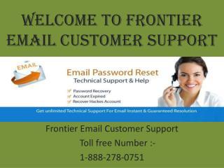 FRONTIER EMAIL CUSTOMER SUPPORT HELPLINE NUMBER