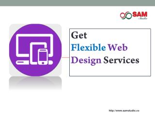 Flexible web design services from outsource web development company in india