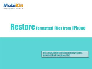 Restore Formatted Files from iPhone