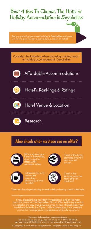Best 4 Tips To choose the Hotel Or Holiday Accomodation in Seychelles