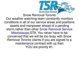 Snow Removal Service Toronto