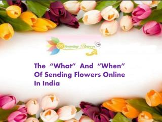 Send Flower Online India? Order By Blooming Flowerz