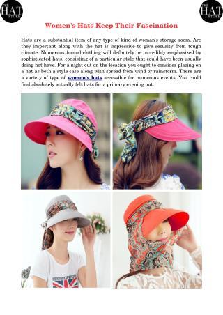Women's Hats Keep Their Fascination