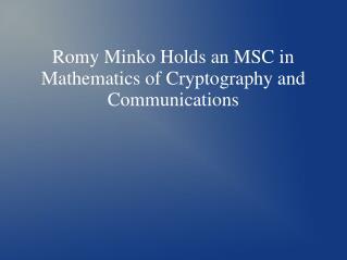 Romy Minko