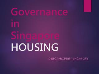 Governance in Singapore-HOUSING