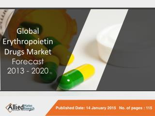 Erythropoietin Drugs Market - The Industry Set to grow positively