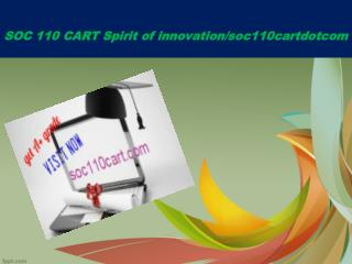 SOC 110 CART Spirit of innovation/soc110cartdotcom