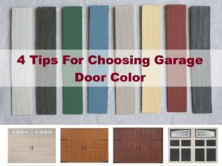 4 Tips For Choosing Garage Door Color
