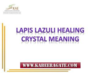 Meaning of Lapis Lazuli Healing Crystals