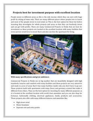 Commercial Projects in Noida