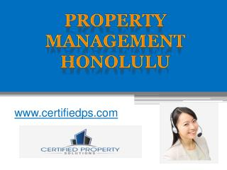 Property Management Honolulu