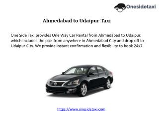 Ahmedabad to Udaipur Taxi Service