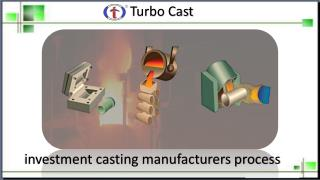 Complete Investment Casting Manufacturers Process - Turbo Cast