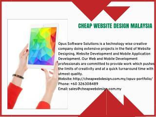 cheap website design Malaysia