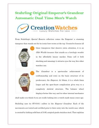Stuhrling Original Emperor's Grandeur Automatic Dual Time 127A.333531 Men's Watch