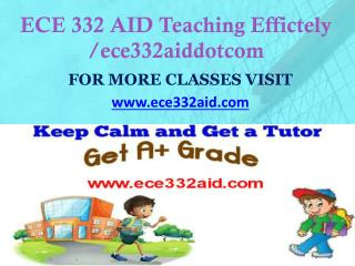 ECE 332 AID Teaching Effectively/ece332aiddotcom
