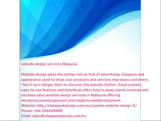 website design services Malaysia