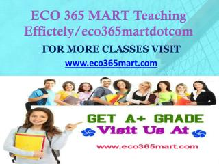 ECO 365 MART Teaching Effectively/ eco365martdotcom