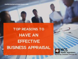 Reasons to Get a Certified Business Appraisal