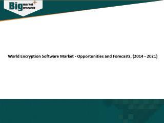 World Encryption software market