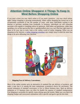 Attention Online Shoppers! 4 Things To Keep In Mind Before Shopping Online