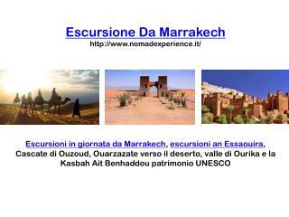 Escursione da marrakech