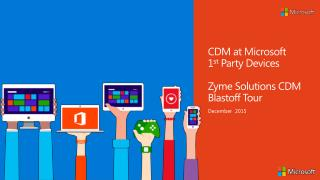 Zyme Solution CDM at Microsoft System