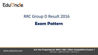 Railway RRC Group D Result 2016| Exam Pattern