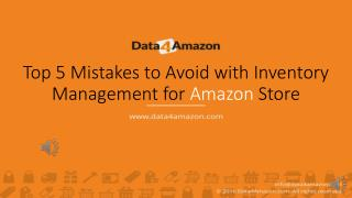 Top 5 Mistakes to Avoid with Inventory Management for Amazon Store