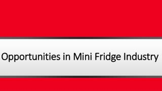 Opportunities in Mini Fridge Industry