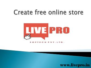 Create free online store