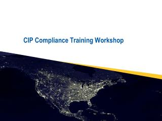 CIP Compliance Training Workshop