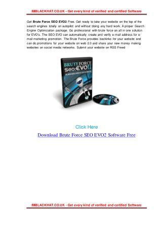 Get Brute Force SEO EVO2 Free