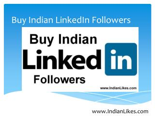 Buy Indian LinkedIn Followers